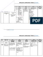 English Language Year 1 Weekly Plan 2011