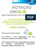 CAPACITAÇÃO  ORCID DARCILA BOZONI