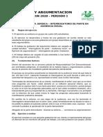 TRABAJO INTERROGATORIO DE PARTE EN AUDIENCIA INICIAL