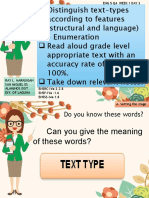 ENG 5 Q4 W1 DAY 3 Distinguish text-types according to features (structural and language) – Enumeration BY Sir Ray L. Marasigan