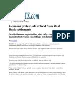 2007_Haaretz_German Protest sale of food from Westbank Settlements