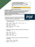Taller de balanceo de ecuaciones Oxido - reducción y precipitación.pdf