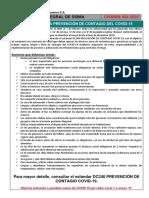 Charla Integral SSIMA 404 - Precauciones para evitar el contagio del COVID -19