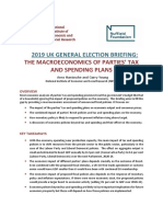 NIESR Election Briefing - The Macroeconomics of Parties' Tax and Spending Plans