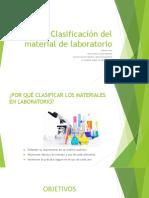 Clasificación del material de laboratorio