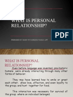 Personal Relationships