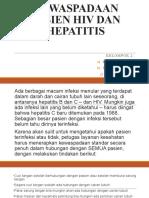 Kewaspadaan Pasien Hiv Dan Hepatitis