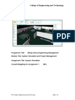 ASSIGNMENT-  Simulation of Manufacturing Cell .docx
