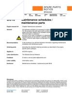 D616 Maintenance schedules and maintenance parts SN616-99-7001