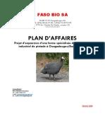 BUSINESS PLAN FASO BIO SA (F CFA) du 16 -02-2020 BID