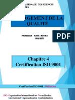 Chapitre 4 Certification Iso 9001
