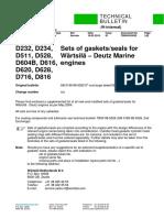 D232 gasket sets TB00-99-5020
