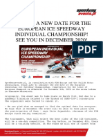 2020 EUROPEAN ICE SPEEDWAY INDIVIDUAL CHAMPIONSHIP!