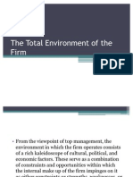 The Total Environment of the Firm