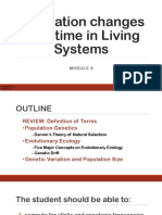 MODULE 6 Population Changes over time in Living Systems