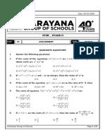 (Assignment Day 15)$$(Mathematics)$$(Quadratic Equations)$$(30)$$(45)