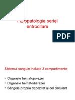 Fiziopatologia seriei eritrocitare