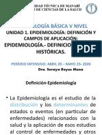 1. Epidemiologia.- Definiciones. Bases históricas