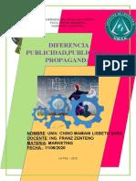 Diferencia Publicidad y Propaganda