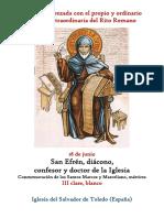 18 de Junio. San Efren, Diácono, Confesor y Doctor de la Iglesia. Propio y Ordinario de la santa misa