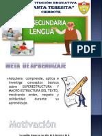 SESIÓN N° 12 EL TEXTO SUPERESTRUCTURA Y LA MACROESTRUCTURA 5TO - LENGUA