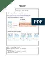 ACTIVIDADES DE MATEMATICA 1ERA SEMANA - 2DO BASICO