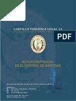 CARTLLA PARA CONTROL DE IDENTIDAD