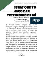 51-0413 LAS OBRAS QUE YO HAGO DAN TESTIMONIO DE MÍ HUB