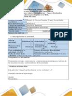 Guía de actividades y rúbrica de evaluación - Paso 4 - Profundizo saberes psicológicos en la Web