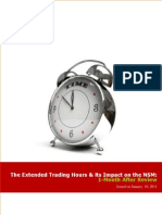 Extended Trading Hours - One Month After Review 100111