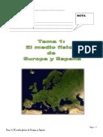 Tema 1. El medio físico de Europa y España