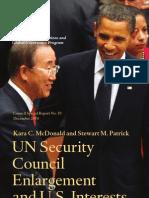UN Security Council Enlargement and U.S. Interests