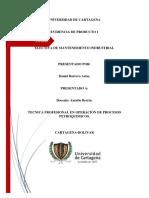 Mapa conceptual mantenimiento- Daniel Barrera