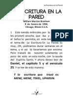58-0108 LA ESCRITURA EN LA PARED vgr