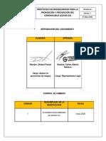 PR-SST-04  PROTOCOLO DE BIOSEGURIDAD PARA LA PROMOCIÓN Y PREVENCIÓN DEL CORONAVIRUS (COVID-19)