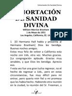 51-0501 EXHORTACIÓN DE SANIDAD DIVINA  HUB