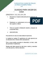 GRADOS 9... 08 mayo 2020