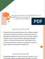 motivación para el aprendizaje y la enseñanza