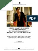 La espectacularización erotica del cuerpo masculino