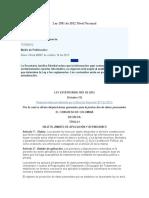 Ley 1581 de 2012 Nivel Nacional