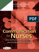 [Dr Schuster, Nykolyn] Communication for Nurses H(BookFi) (1)