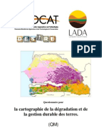 Cartograohie dégradation sols SENEGAL