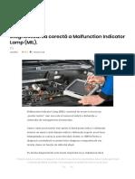 Diagnosticarea Corectă a Malfunction Indicator Lamp (MIL). – AutoTehnica
