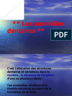 les anomalies dentaires