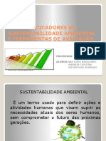 INDICADORES DE SUSTENTABILIDADE AMBIENTAL E FERRAMENTAS DE AVALIAÇÃO.pptx
