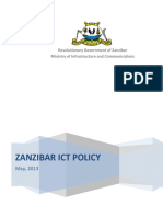 Zanzibar ICT Policy as June 2013