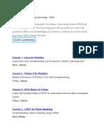 Intro to Robot Programming – ROS