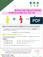 PPT Sumas y Restas con Fracciones