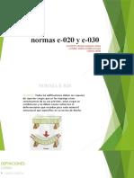 DIAPOSITIVAS D LAS NORMAS E-020Y E030