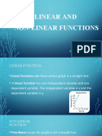 Linear and non-linear functions
